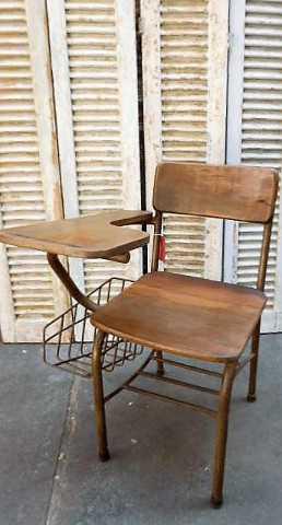 Vintage teak cinema bench / chairs-2