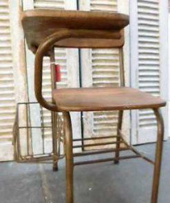 Vintage teak cinema bench / chairs-5