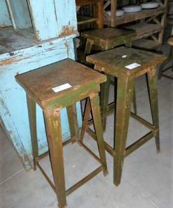 Vintage metal plants table / stool-1