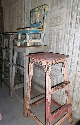Holzpflanzen Tisch / Schemel-3