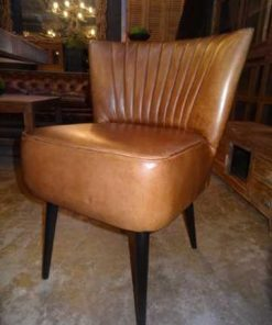 Cognac leather chairs-1