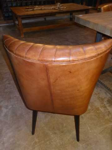 Cognac leather chairs-3