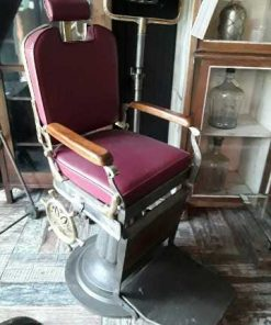 Antique refurbished barber / hairdresser chair-1