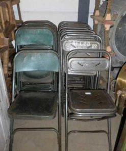 Vintage metal folding chairs-2