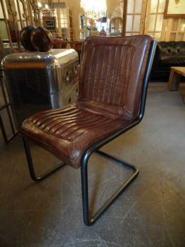 Modern dining chair vintage leather-1