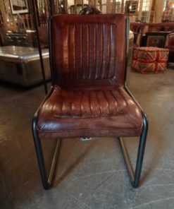 Modern dining chair vintage leather-2