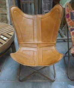 Sleek leather chair / armchair-1