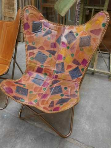 Eleganter Lederstuhl / Sessel-1