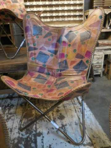 Eleganter Lederstuhl / Sessel-2