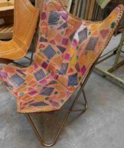 Eleganter Lederstuhl / Sessel-3