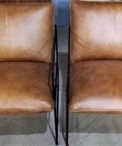 Cognac Leather Chair / Armchair-1