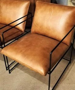 Cognac Leather Chair / Armchair-2