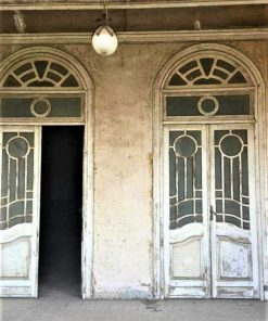 Antique double doors with glass-1