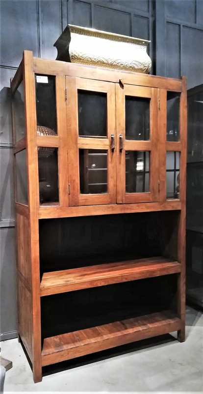 Antique teak cabinet-1