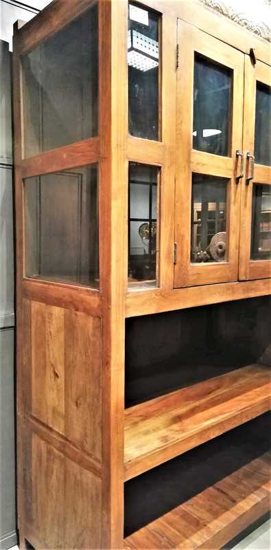 Antique teak cabinet-3