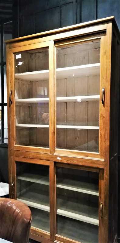 Antique teak cabinet-1