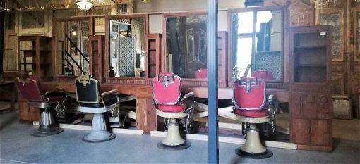 Antique barber / hairdresser's cabinet-1