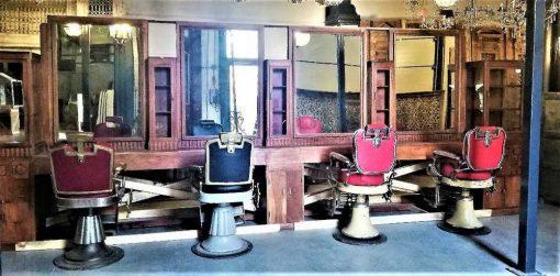 Antique barber / hairdresser's cabinet-2