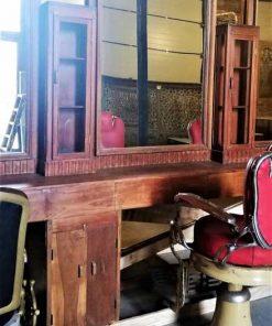 Antique barber / hairdresser's cabinet-3