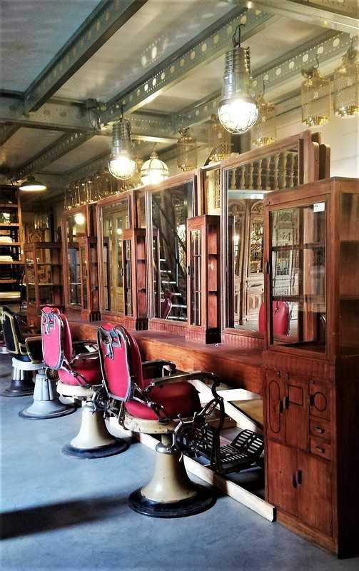 Antique barber / hairdresser's cabinet-4