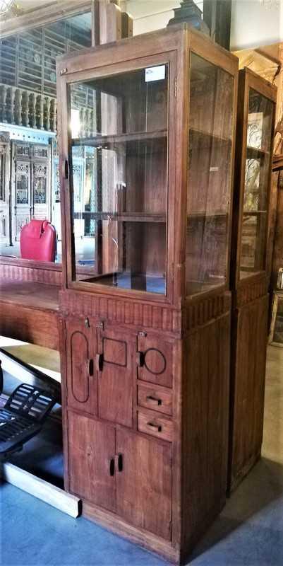 Antique barber / hairdresser's cabinet-5