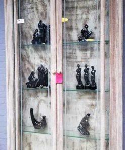 Vintage ondiepe vitrine kast-2