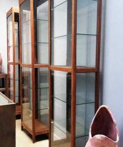 Antieke vitrine kast lxdxh 63x33x240 cm-1