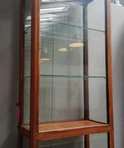 Antieke vitrine kast lxdxh 63x33x240 cm-2