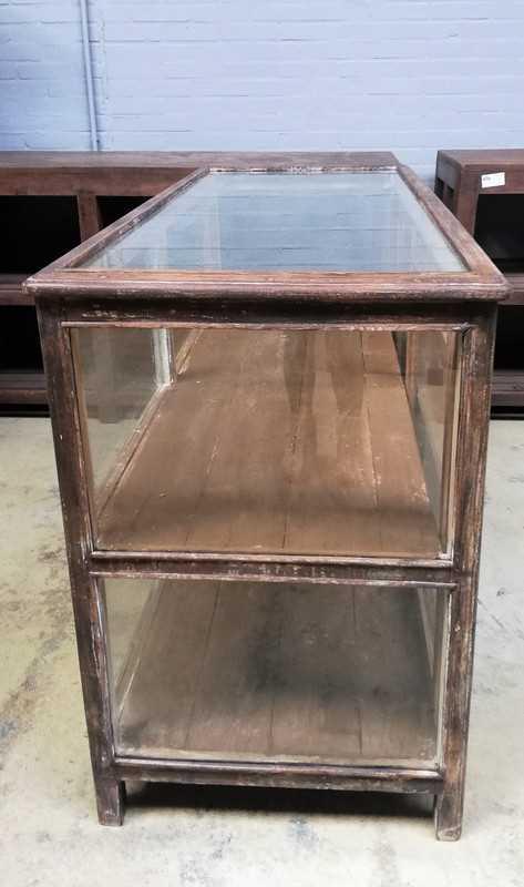 Antieke vitrine toonbank lxdxh 155x64x94 cm-3