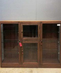 Antieke ( hang ) vitrine kast-1