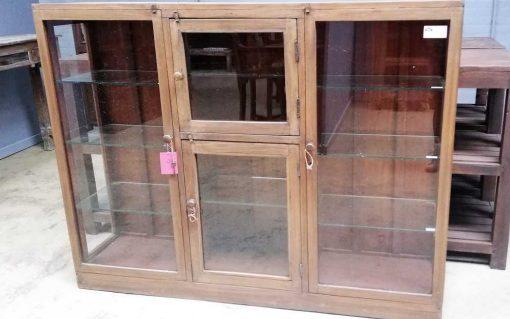 Antieke ( hang ) vitrine kast-2