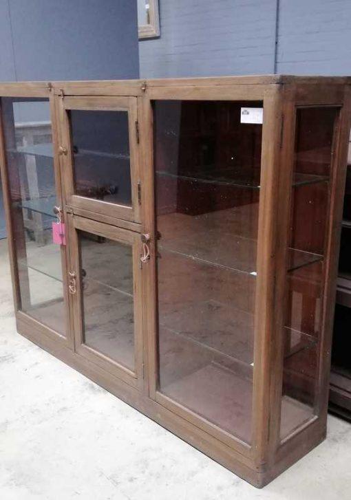 Antieke ( hang ) vitrine kast-3