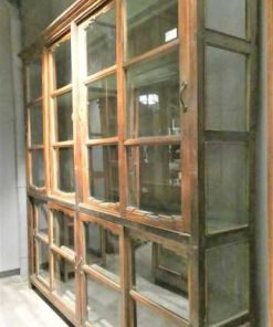 Antique teak display case-2