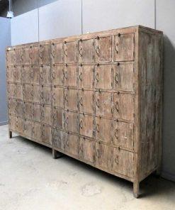Vintage teak locker cabinet-2