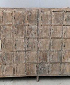 Vintage teak locker cabinet-3