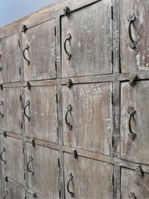 Vintage teak locker cabinet-4