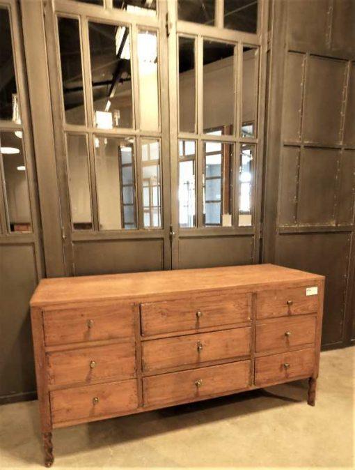 Antique teak chest of drawers-1