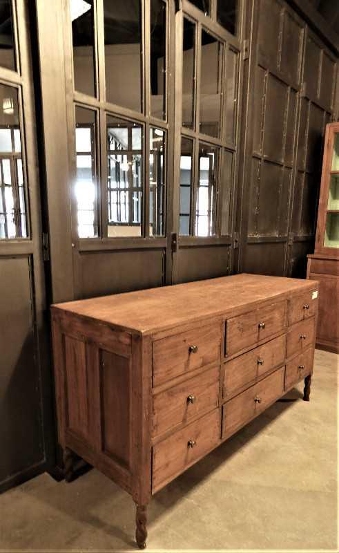 Antique teak chest of drawers-2