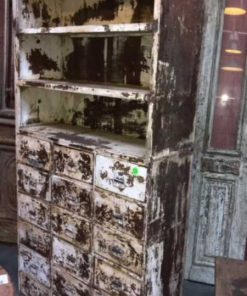 Beautiful industrial vintage metal cabinet-1