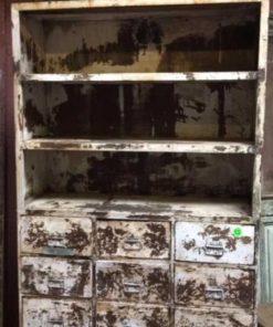 Beautiful industrial vintage metal cabinet-2