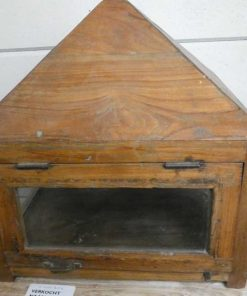 Antique display case with hanging chain-1