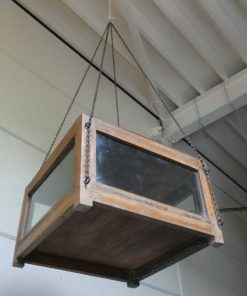 Antique display case with hanging chain-4