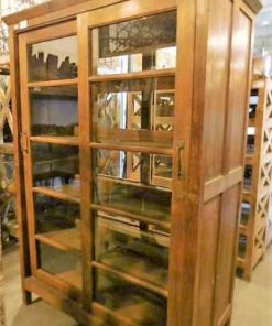Antique showcase cabinet-3