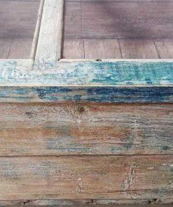 Vintage blau geschliffe Museum Vitrine-4