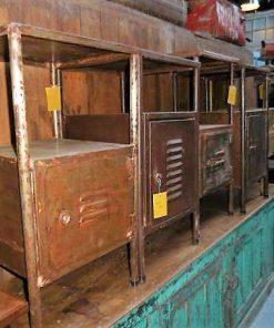 Vintage metalen nacht kastjes-2