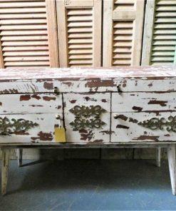 Vintage white ( tv-) cabinet-1