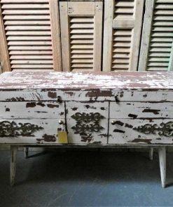 Vintage white ( tv-) cabinet-2