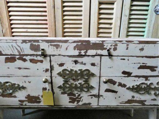 Vintage white ( tv-) cabinet-3