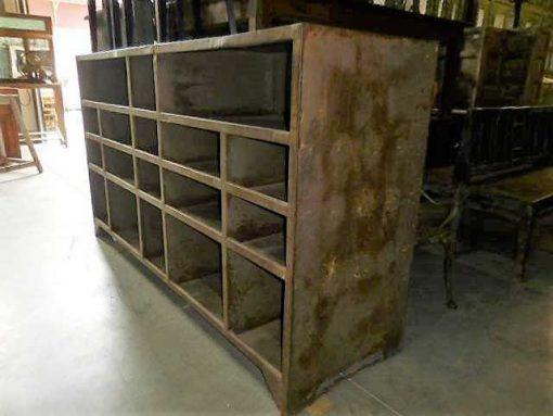 Vintage industrial metal cabinet-2
