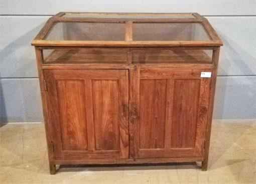 Antique teak museum showcase-1